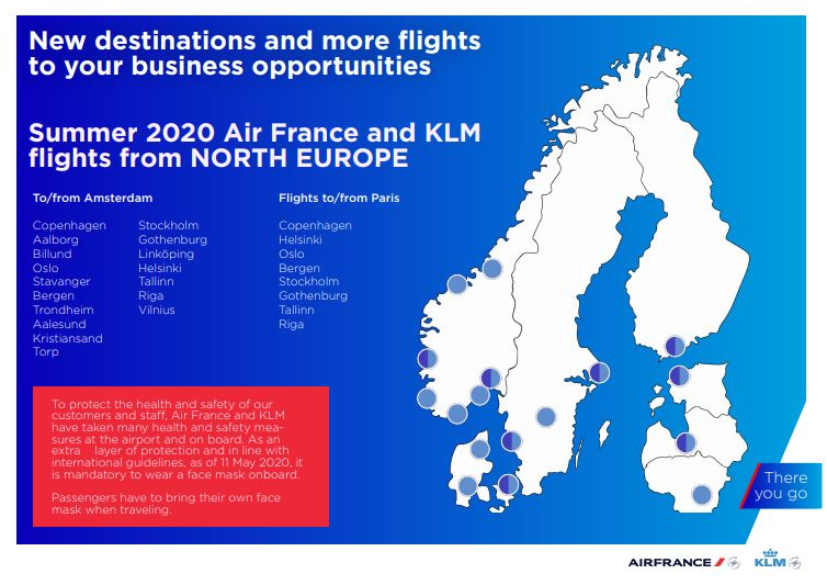 #AirFrance #KLM in North Europe gradually getting back in shape: we just reopened Paris to #Göteborg, and Amsterdam to #Linköping, #Aalesund, #Kristiansand and #Torp. 17 (from the 18 pre-Covid) cities are linked again to our global network.pic.twitter.com/9amhey8FNC