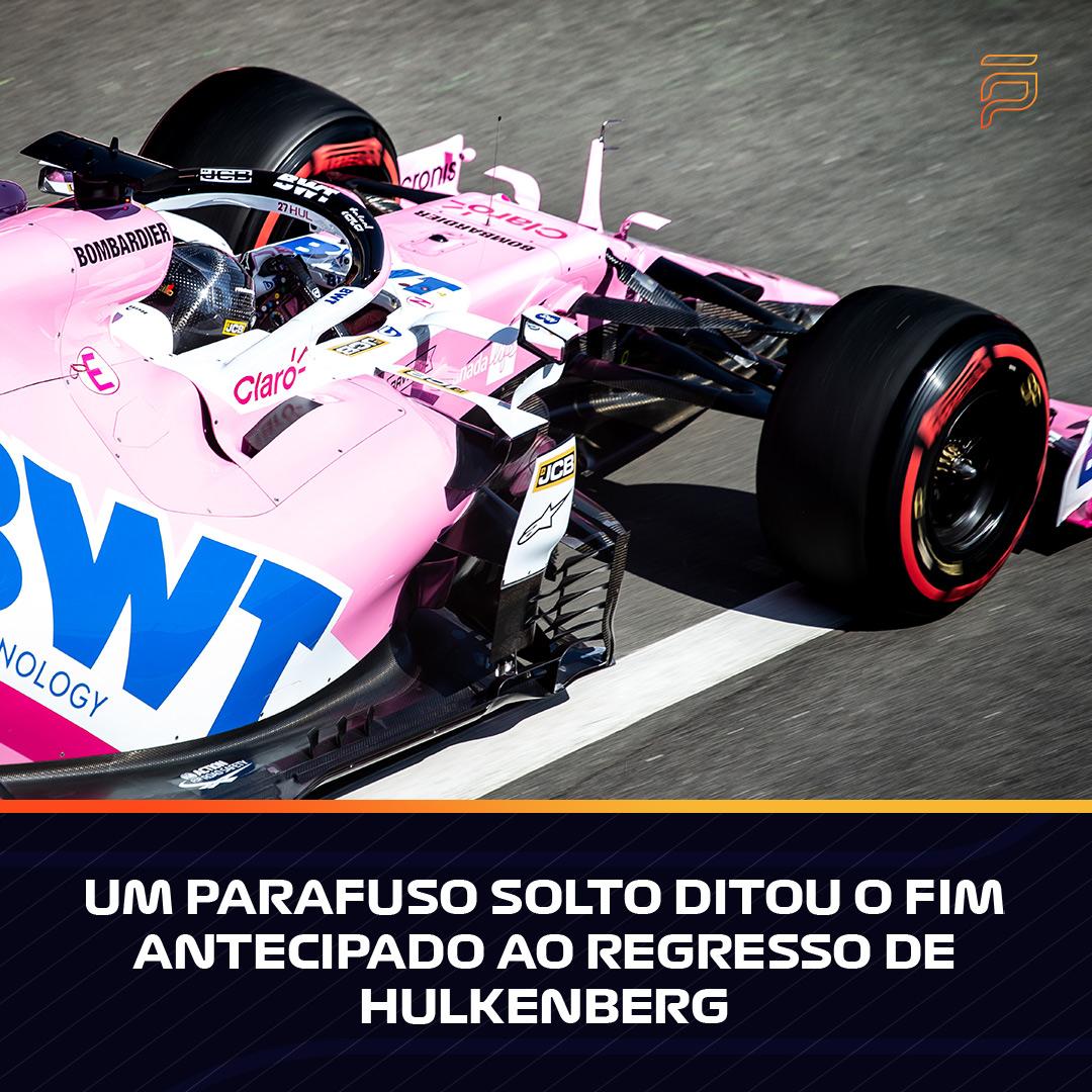 Um parafuso solto ditou o fim antecipado ao regresso de Hulkenberg  #FormulaPortugal #FP #Formula1 #F1 #FormulaOne #F1Eleven #BritishGP #Hulkenberg #NicoHulkenberg #NH27 #RacingPoint https://t.co/ZuZv9oQwDx