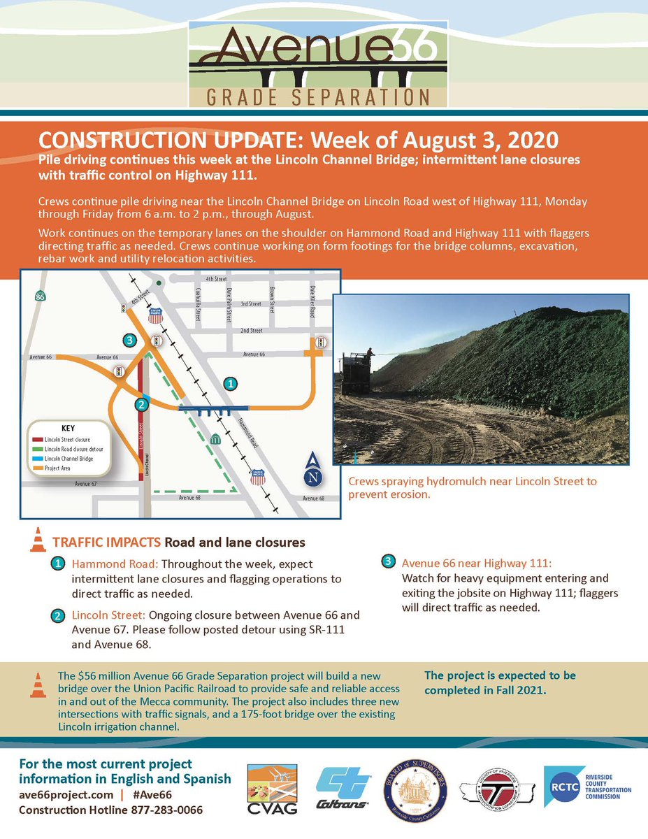 Image posted in Tweet made by Caltrans District 8 on August 3, 2020, 4:36 pm UTC