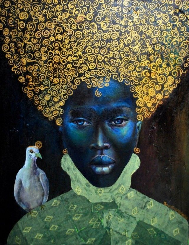 The Black Queen, 2010 by Jamaican-born painter Tamara Natalie Madden #womensart