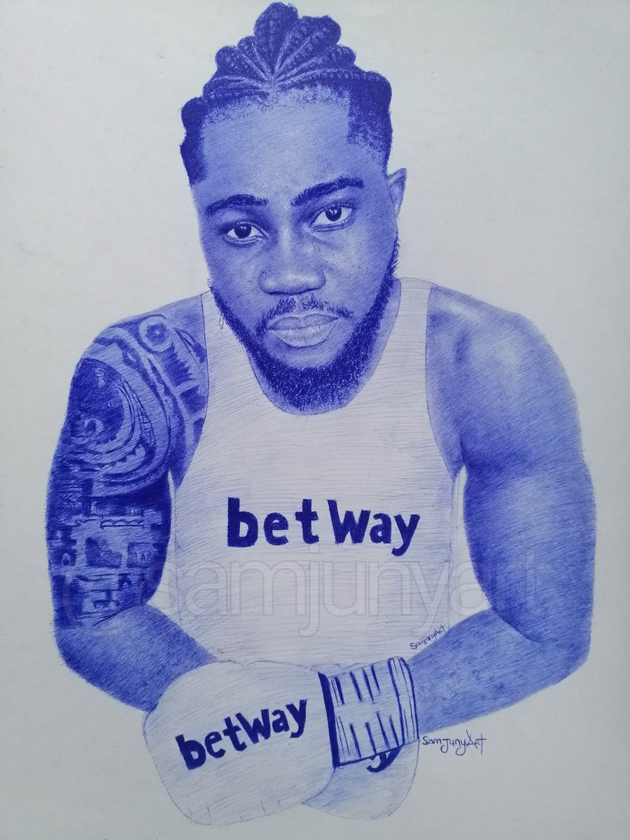 Hey guys🥺. This is my entry for the #BetwayFYI challenge. Pen drawing of @itz__praise  as a boxer Please help me like and retweet and tag others lets get to the next round🙌 @BetwayNigeria #BetwayGameOn#BBNaijaLockdown #BBNaija #praisebbnaija