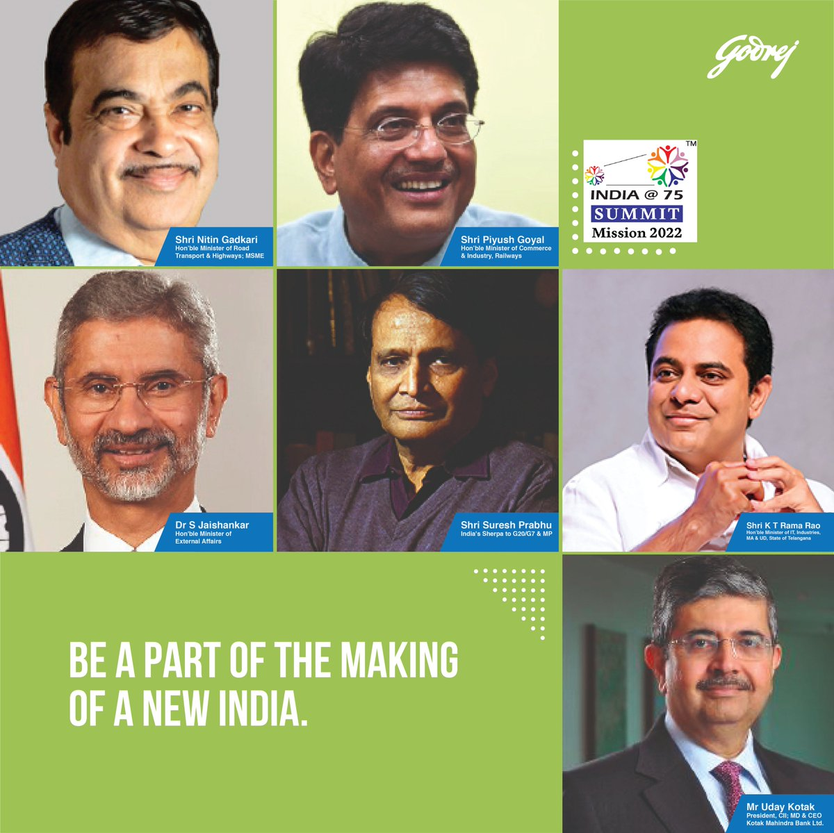 On 8th August, the most influential minds of our nation will decide its way forward at the @Indiaat75 Summit - Collaborating for a new, self-reliant India. The leaders will collectively paint the vision of our country #EmergingStronger at 75. Register here https://t.co/DP7PD1BMvQ https://t.co/WfZ1yytxG4