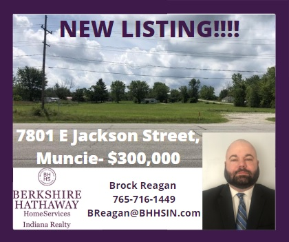 NEW LISTING!!!!!!!!!  7801 E Jackson Street,  Muncie, IN 47302 $300,000 MLS:202030138  Corner of SR 32/E Jackson on Whitney Rd Call Brock Reagan for more information -765-716-1449  #BHHSINMUNCIE #BerkshireHathaway #NewListingpic.twitter.com/zSOtCD8f5s