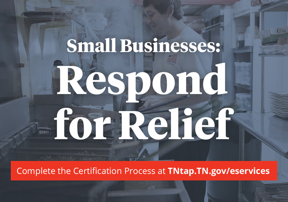 33,000 Tennessee businesses are eligible to receive economic relief funds. If you are a qualifying business and have not verified your information with @TNDeptofRevenue, please visit https://t.co/txrvGFKPJv
