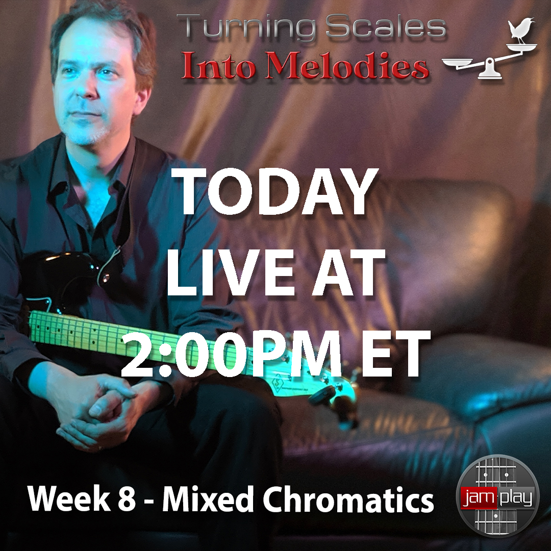 It's week 8 of Mixed Chromatics with Dave Isaacs! Now let's look at how to use tones outside the scale for connection and flavor. Emphasis on the #1, #2, and #4, and their chordal implications.  #daveisaacs #melodies #scales #talentedmusicians #guitarsdaily #leadguitar #groovepic.twitter.com/dcXuQNHOr6