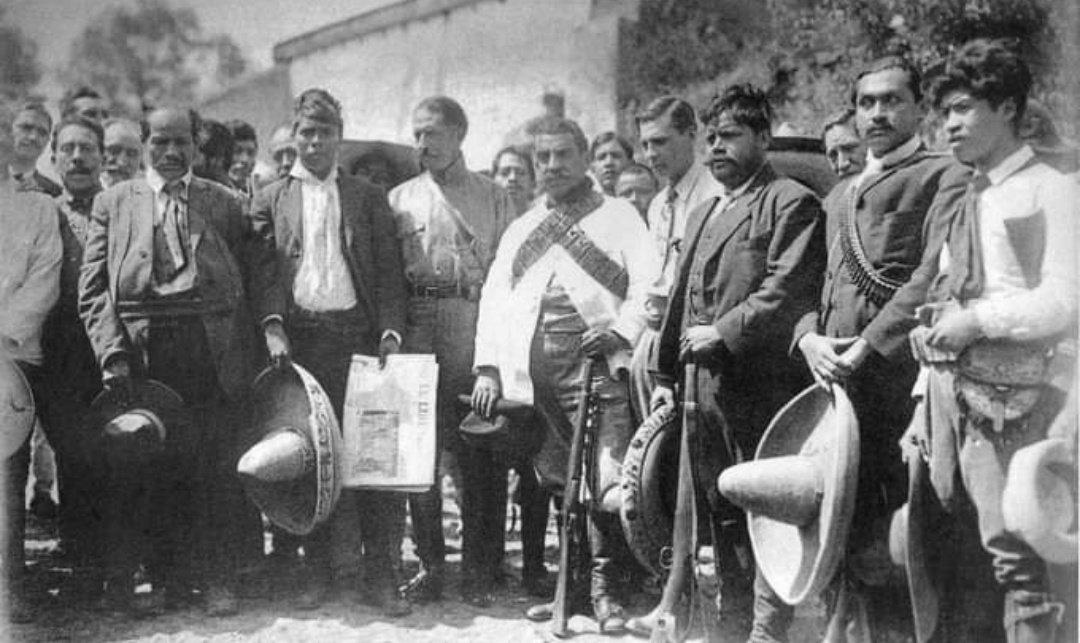 #Revolución 4-agosto-1912 El presidente Madero nombra a Felipe Ángeles jefe de la campaña militar en contra de los zapatistas en Morelos. Ángeles aplica una estrategia de respeto a la población civil y acercamiento hacia los zapatistas