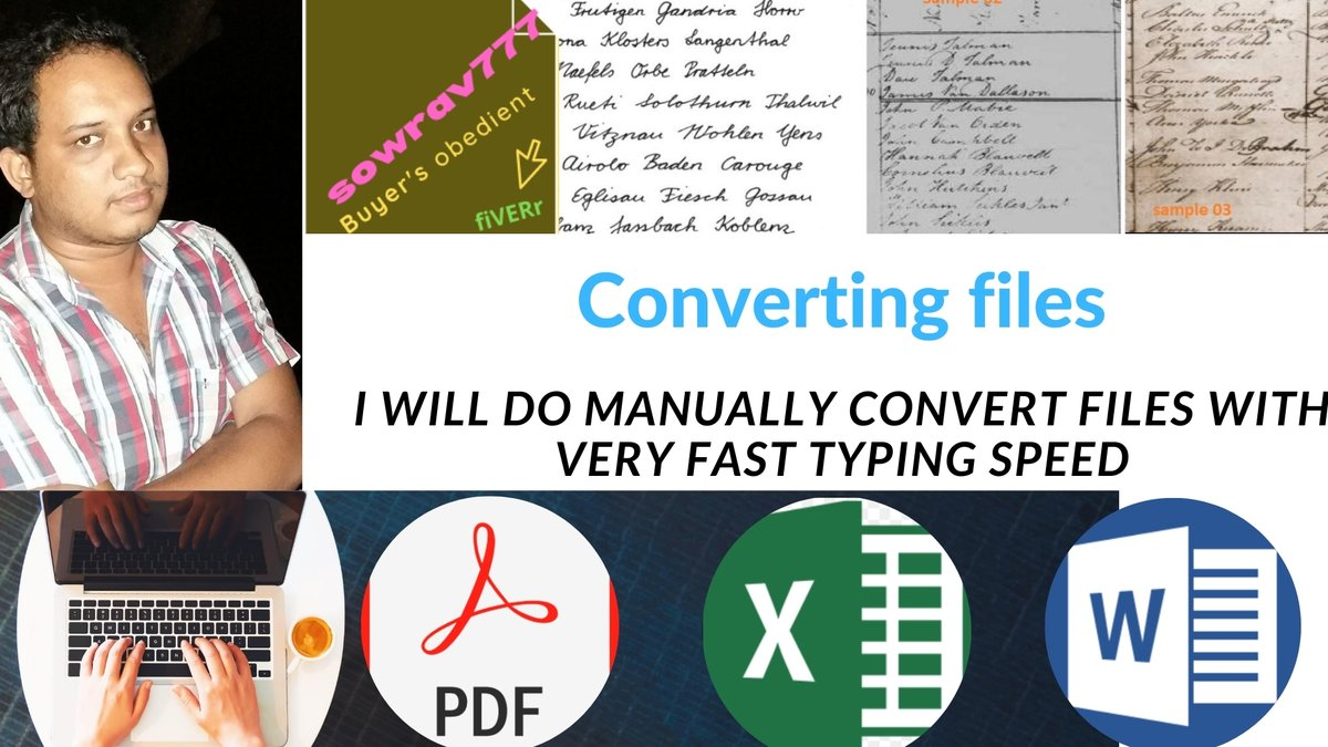 who #need a #Converter #like that? #handwritten #image or #files  #pdf to #excel or #word  here I am, I will #manually #convert your #files by #faster #typing in #hours. I am a #professional #freelancer #will be your #virtualassistant and #assist your work #make #Simple  #fiverrpic.twitter.com/WfXwRCrH15