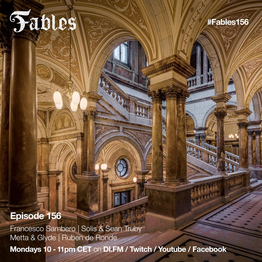 Good news, the weekend is extended thanks to #Fables156. Today i've brand new records from Francesco Sambero, @Solisandstruby, @rubenderonde , @MettaandGlyde and many more. Be sure to tune into Twitch, Facebook, Twitter or https://t.co/aTJd7gBRFh between 10 & 11PM https://t.co/vpQBh40L74