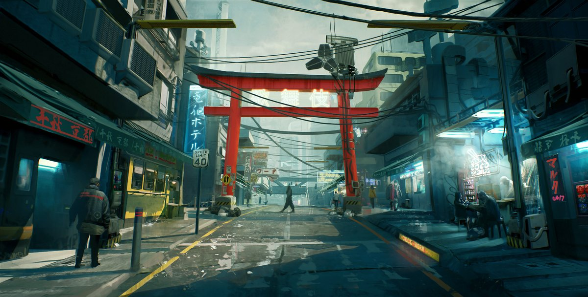 The world of #Cyberpunk2077 will be 4 times bigger than #Witcher3   I can't wait to start exploring neon-lighted streets of #NightCity this autumn! #conceptart #cdprojektred #cyberpunk #rpgpic.twitter.com/kehDOOmKl1