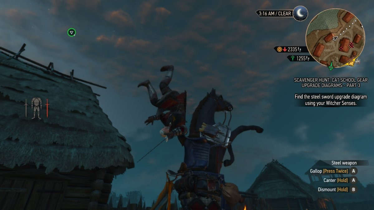 Geralt and Roach breakdancing (they got stuck like this) #Witcher3 pic.twitter.com/zUjXgEbq2b