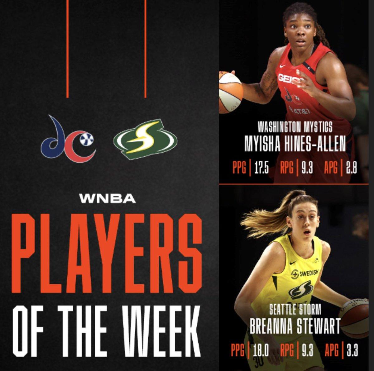 Players of the Week for the @WNBA @breannastewart @Mooks_22 https://t.co/nVmrtu7lRs