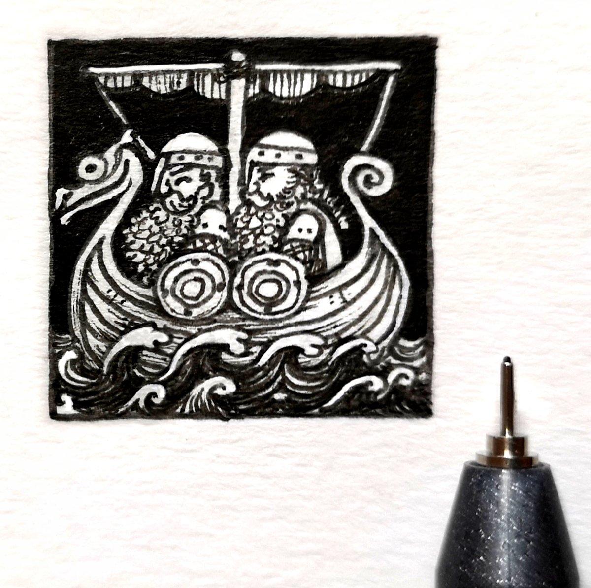 Viking shortboat. #1inchdrawing #dailydrawing #drawdailypic.twitter.com/8cFapzf0Wr