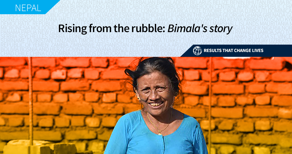 'A life-changing experience' - thats how Bimala Tamang describes the help she received after the devastating 2015 earthquake in #Nepal. Learn how efforts to rebuild the country are #ChangingLives. wrld.bg/xnkl50AKzX3