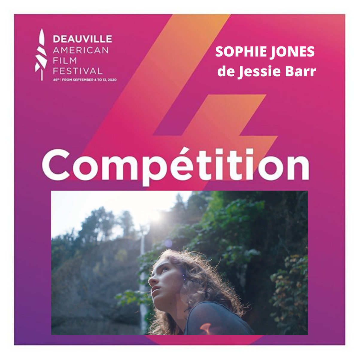 Congrats to #FilmFatales member Jessie Barr, whose feature debut, SOPHIE JONES, will have its world premiere at the 2020 Deauville American Film Festival next month!  @BarrJessie @SophieJmovie @DeauvilleUS #Deauville2020 #JessieBarr #SophieJonesMovie #FestivalDeDeauvillepic.twitter.com/TbEgm04RlH