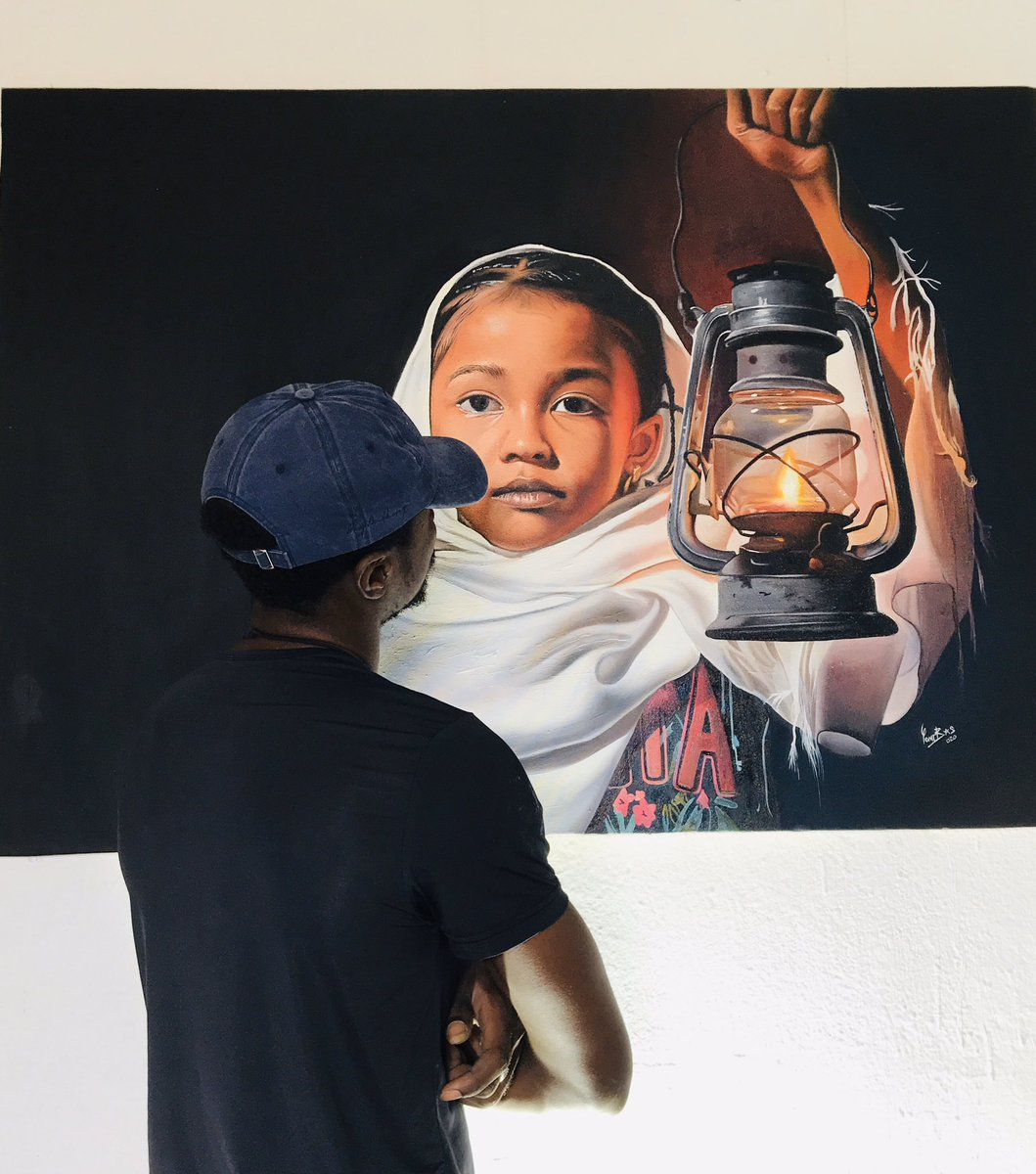 My new piece found a new home, after soo much requests and dm, I finally decided to let it go. Hope she lights up her new home❤️ #art #wearenigeriacreatives #yomibas #ibexwatchlist