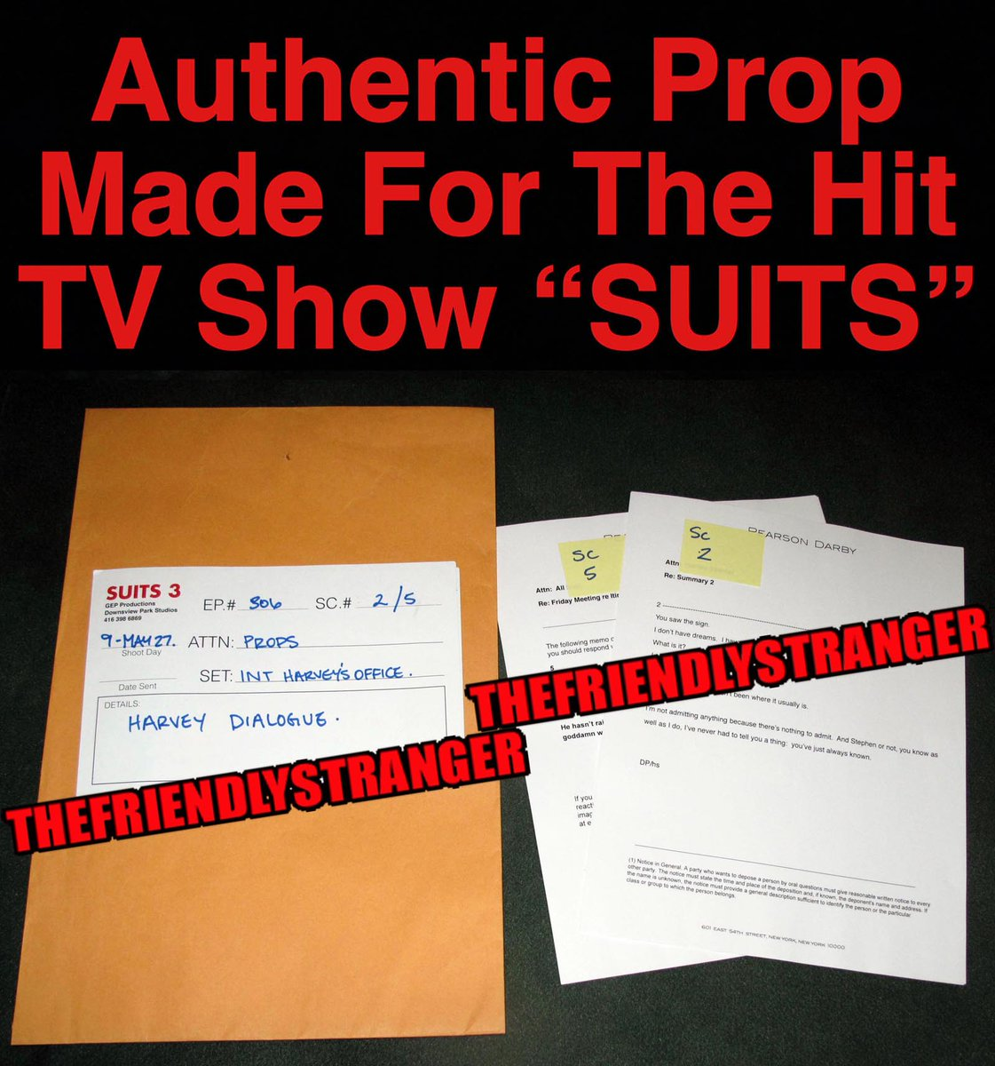 """We've Added Some RARE - HARVEY SPECTER Dialogue """"SUITS"""" PROPS, that are Now Available. Buy Them Here: https://ebay.to/31jbYKG ... #suits #suitsusa #suitors #gabrielmacht #harveyspecter #props https://www.instagram.com/p/CDb0x6iHSrh/pic.twitter.com/L5N0x7ozLI"""