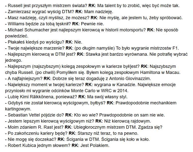 """""""Robert #Kubica jednym słowem? Jest Polakiem.""""  RK przed wyścigiem DTM został przepytany przez reportera ran. de - fajny wywiad się z tego zrobił.  Kilka urywków + link, ale z geoblokadą 😊 ...tłumaczenie robione w pośpiechu i w dużym skrócie 😇 https://t.co/bVSzcEioVJ https://t.co/uzn6dNL0wc"""