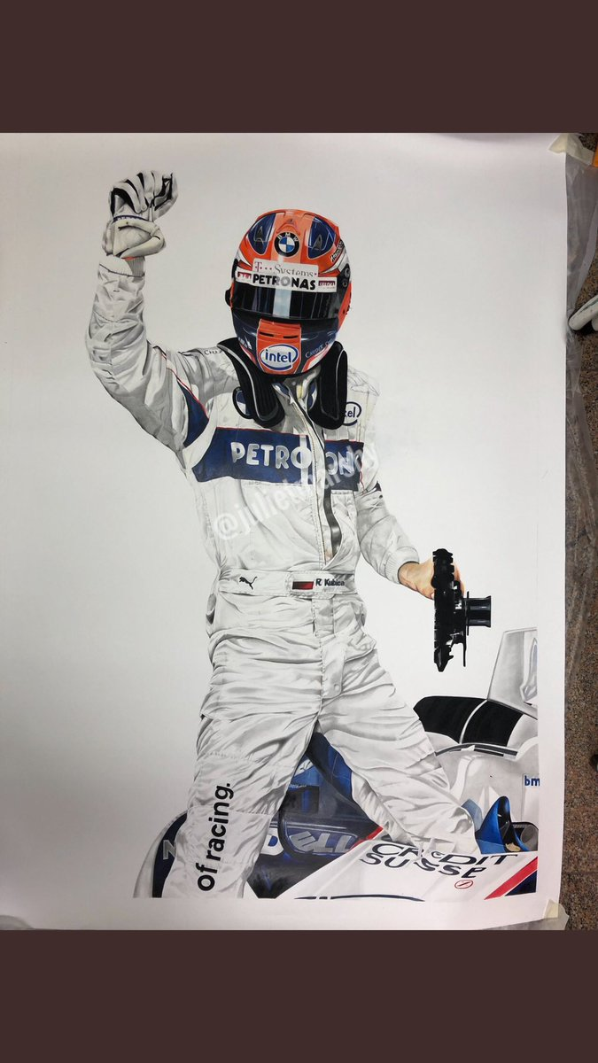 While I'm working on a few things here's a throwback to #robertkubica  #art #illustration #lifesize #drawing #f1 #formula1 https://t.co/NDCaTXTisH