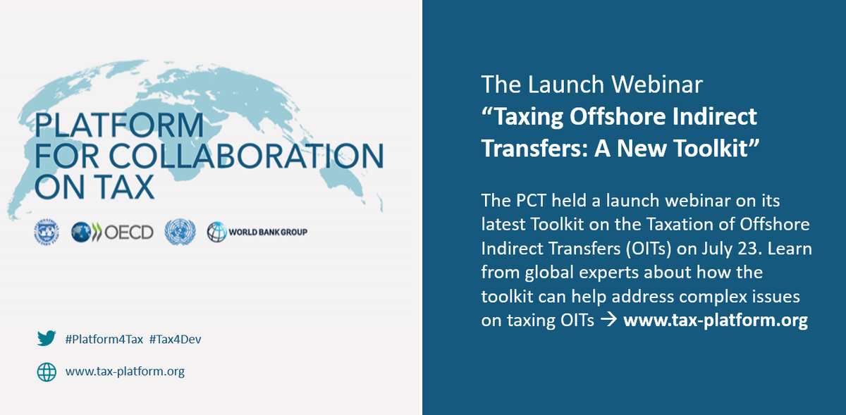 Many developing countries have long faced challenges in raising revenue through taxation—which have only been magnified by the #COVID19 crisis. A recently launched toolkit provides countries with guidance on how to tax offshore indirect transfers: wrld.bg/IWAc50APB4D