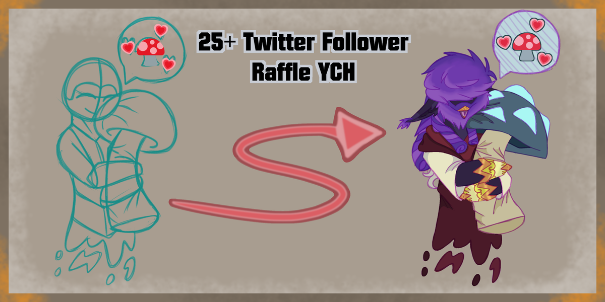 I reached 25 followers here on Twitter. And want to do an art #raffle / art #Giveaway . So made a YCH for the occasion. To enter follow me and like and/or comment below In tread is more info. Have until 11:00pm PST on Friday to enter. Will have 1-3 winners.pic.twitter.com/kBiuqDlBiQ