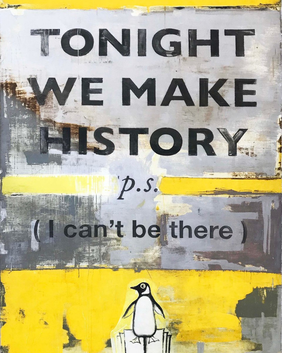 """Harland Miller """"Tonight We Make History"""" . #Miller #Harlandmiller #tonightwemakehistory #Tonight We Make History #2018 #Etching #artwork #investinart #collectart #losangeles #westhollywood #henryonpopart #Editions #pic.twitter.com/hiJBO0gPOw"""
