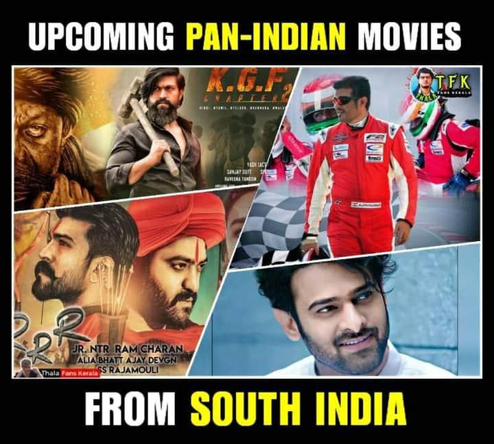 The Upcoming Pan-Indian Movies from South India #KGFChapter2  #Valimai  #RRRMovie  #RadheShyampic.twitter.com/fOtdYoxwjd