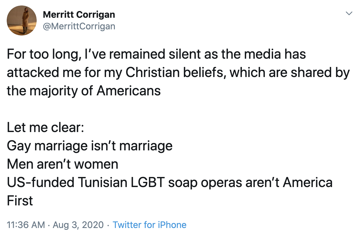 This isn't the first time Merritt Corrigan has belittled women, #LGBTQ+ and other minorities. We've called for her resignation already. ⬇️⬇️⬇️ foreignaffairs.house.gov/2020/7/house-d…