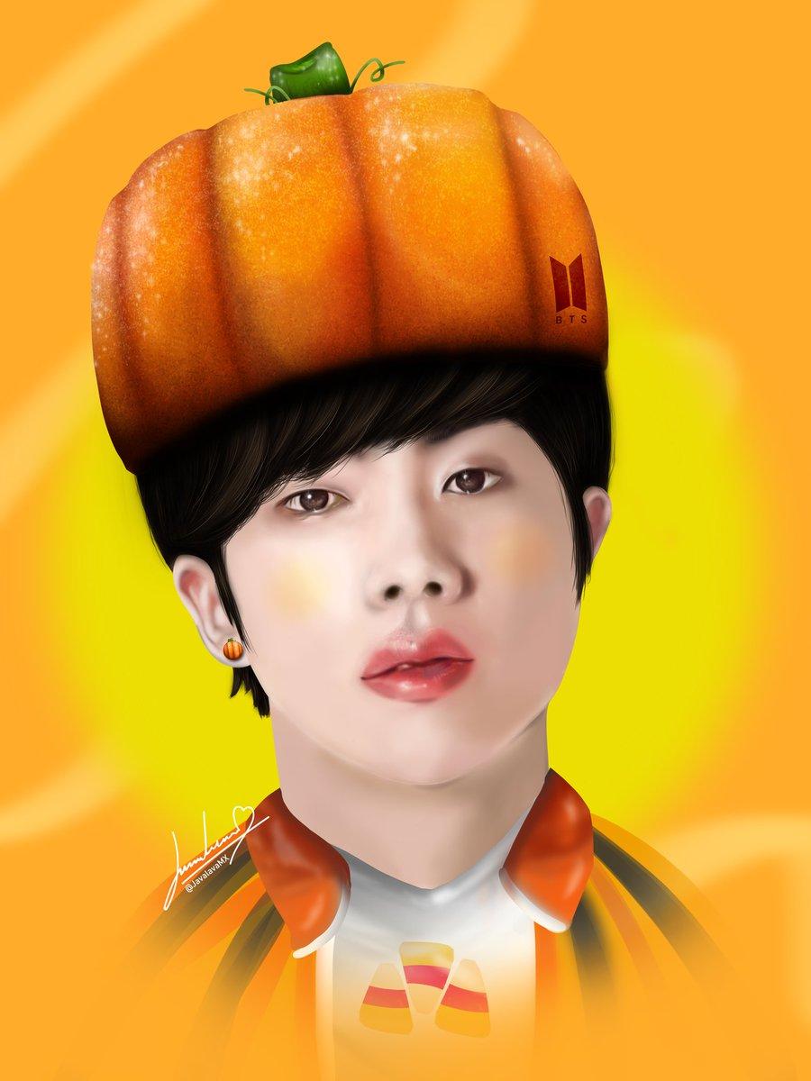 El siguiente en la lista es @jin de @bts , y el resultado me encantó ❤ muy distinto a como lo conocen pero sería un muy buen disfraz de Halloween 🎃 #bts #art #draw https://t.co/4amucarzXt