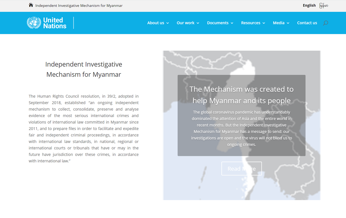 The Independent Investigative Mechanism for Myanmar works to collect, consolidate, preserve & analyse evidence of the most serious international crimes & violations of international law committed in Myanmar since 2011. More on its work: iimm.un.org