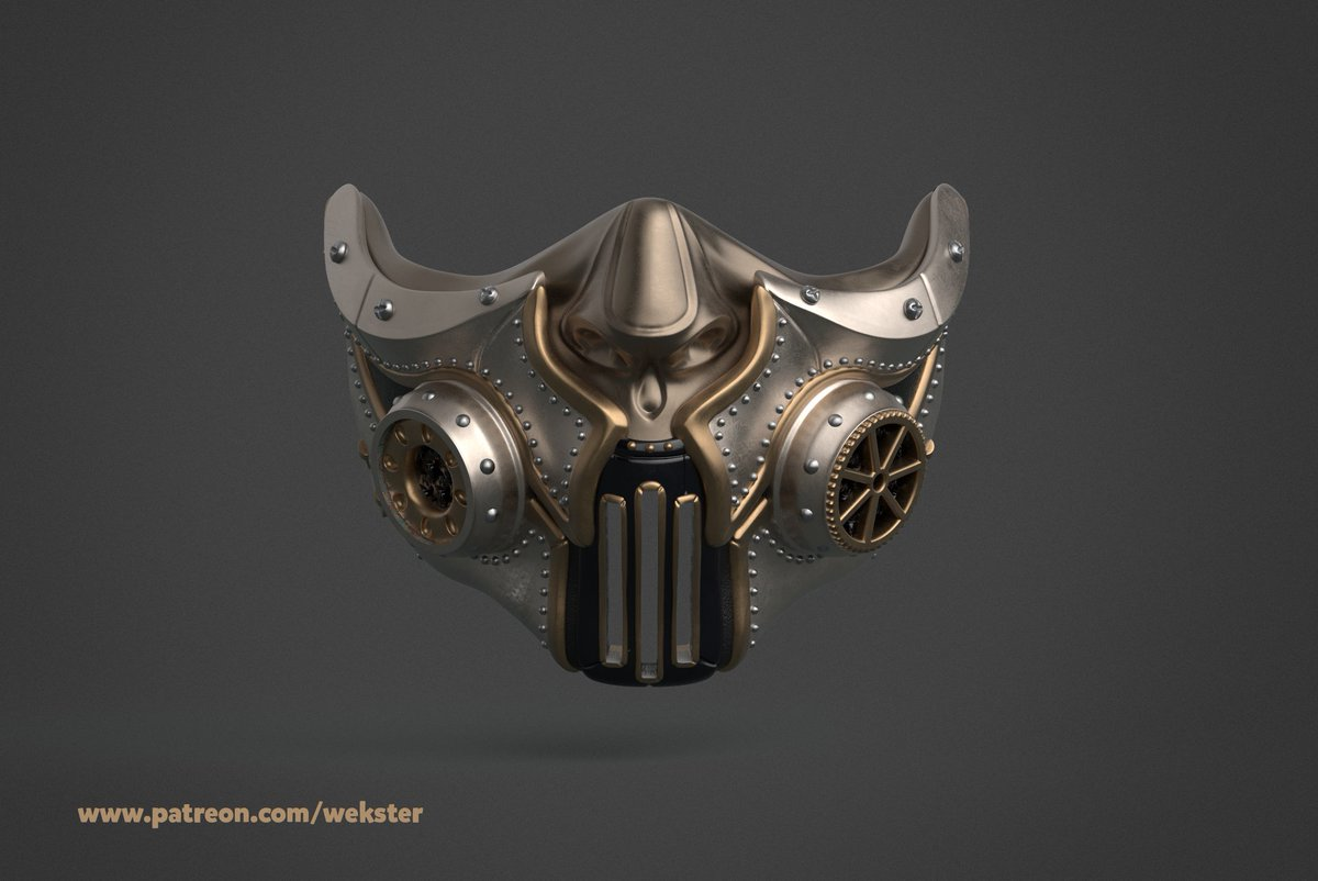 I think I'm gonna try to paint my mask like that :)  #3Dprinting #cosplay #3DModel #steampunk