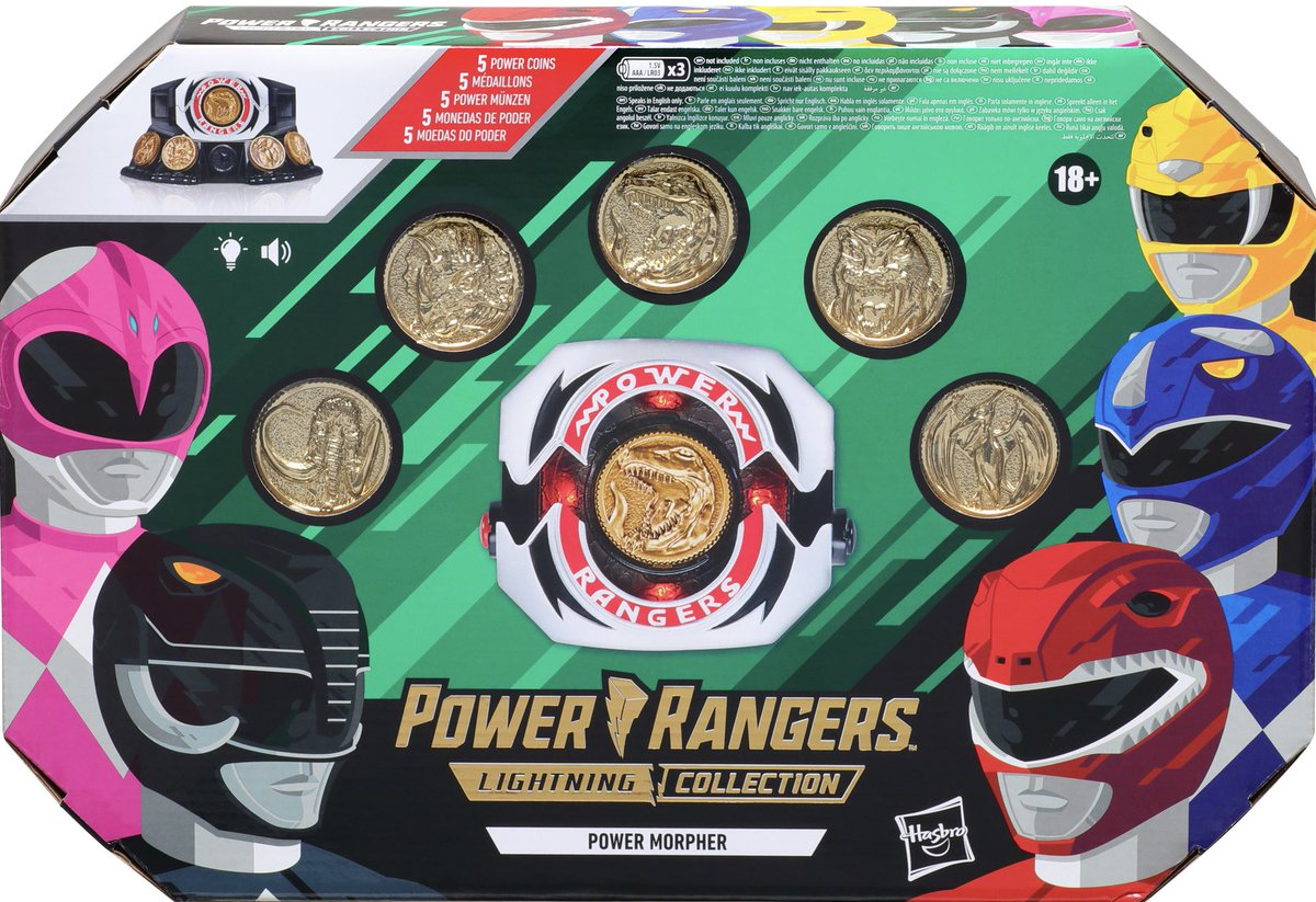 """""""This is a Power Morpher. When in danger, raise it to the sky calling the name of your dinosaur, and you will morph into a fighting force known to one and all a Power Ranger."""" - Zordon  RT AND Reply with your Morph call to enter to win a LC Power Morpher! Winner picked on 8/28! https://t.co/f67D0gq1yr"""