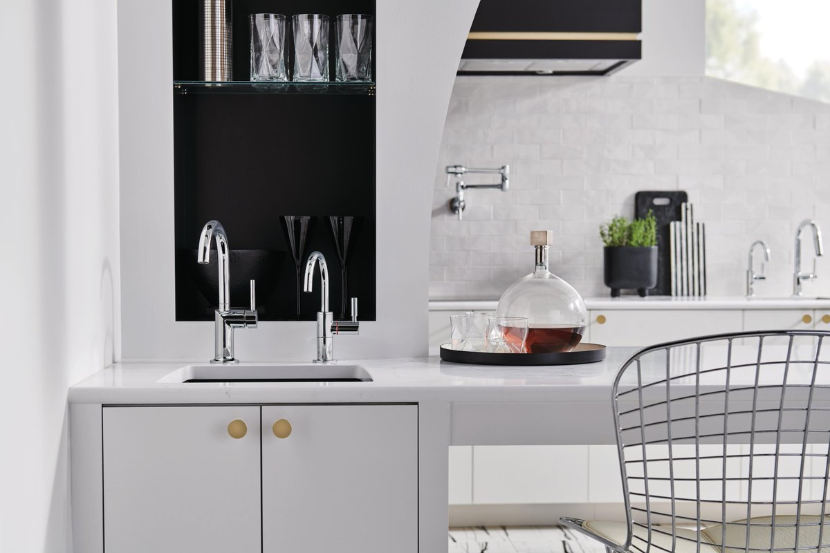 Brizo On Twitter At A Moment S Notice The New Instant Hot Faucets Available In The Artesso Litze Odin Rook And Solna Kitchen Collections Deliver Near Boiling Water To Elevate The Culinary Experience
