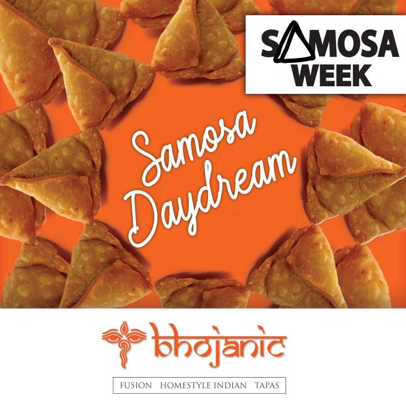 Samosa Week is here! Free 4 pack of Samosas w/  every neighborhood pick up order $50 or more thru Aug 9 http://Www.bhojanic.com #indianfood #foodporn #indiancuisine #foodie #food #vegetarian #foodblogger #instafood #Samosas #SamosaWeek #SamosasRule #foodlover #Atlantapic.twitter.com/ON1DWw7DYF
