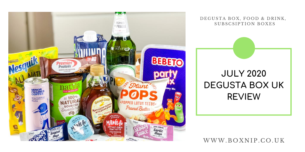 Time for me to share with you the contents of the July 2020 @DegustaBoxuk Review.   https://boxnip.co.uk/july-2020-degusta-box-review/ …  #bloggerstribe @LovingBlogs @bblogrt @UKBloggers1 @BloggingBabesRT #theclqrtpic.twitter.com/zKgC2Ntwjg