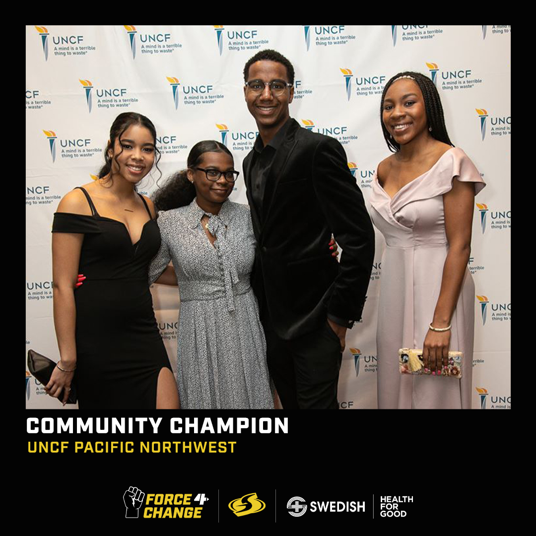 Meet our first @Swedish Community Champion, the United Negro College Fund Pacific Northwest @UNCFPacificNW  To help them continue supporting over 600 students and scholarship applicants each year, donate here today! 🔽 https://t.co/9nhSj0Bdqz https://t.co/74so6kqFSD