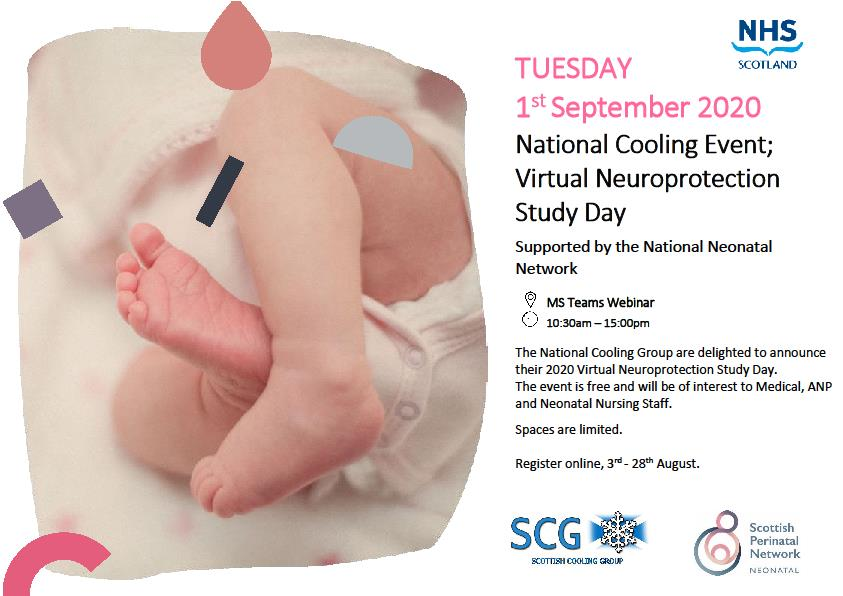 National Cooling Event; Virtual Neuroprotection Study Day  The Scottish Cooling Group and Scottish Perinatal Network are pleased to announce the 2020 Cooling Event, MS Teams Webinar.    Registration via Eventrbrite link below: https://t.co/3e01q6RXse https://t.co/aKwbxgi1fu