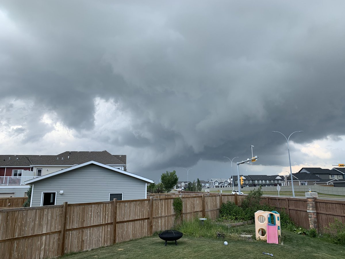Sky north of Airdrie looks angry. #abstorm