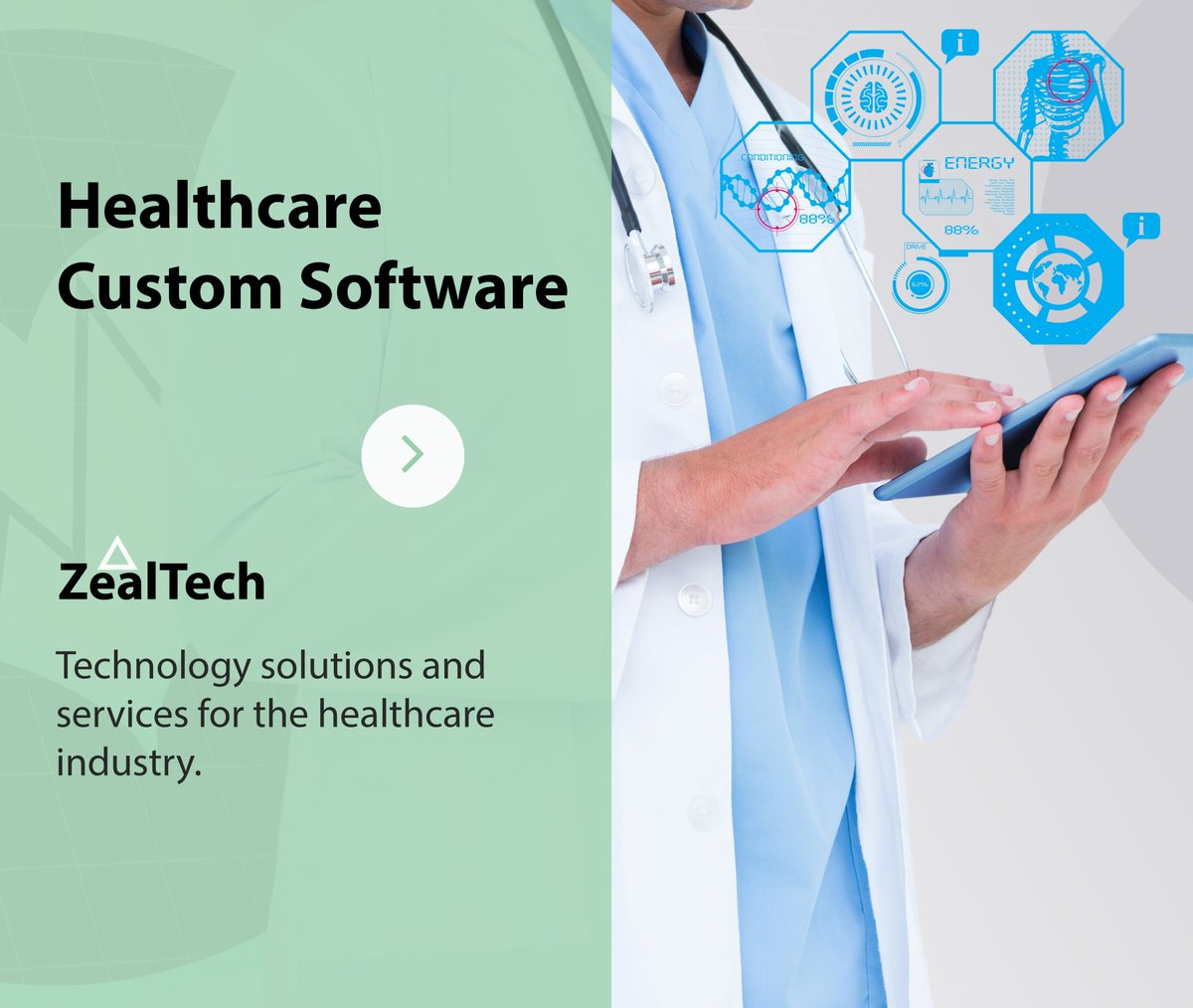 Healthcare Software Development Technology solutions and services for the healthcare industry. https://zealtech.io/  - Engagement of 3rd party security auditors (OWASP, TrueSec) - Consultation provided by MedTech - HIPAA / GDRP compliant - Blockchain development - Big Data pic.twitter.com/jmoXEzG6L1