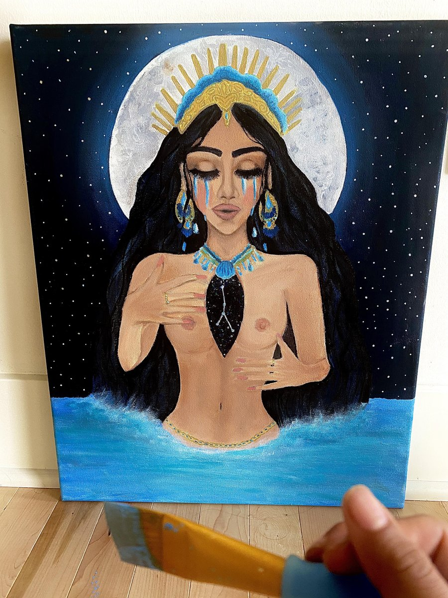 My completed Cancer Season painting! #astrology #cancerseason #cancer #flow #art #paintingpic.twitter.com/KeeN9cSzTs