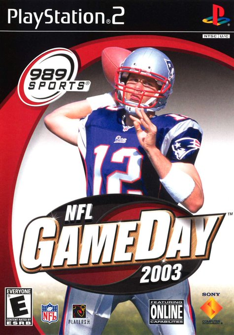 Happy Birthday to Tom Brady. You may remember him as the cover star for 989 Studios\ GameDay 2003.