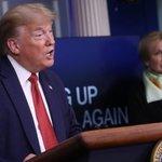 Image for the Tweet beginning: Trump kritiserer ledende rådgiver efter