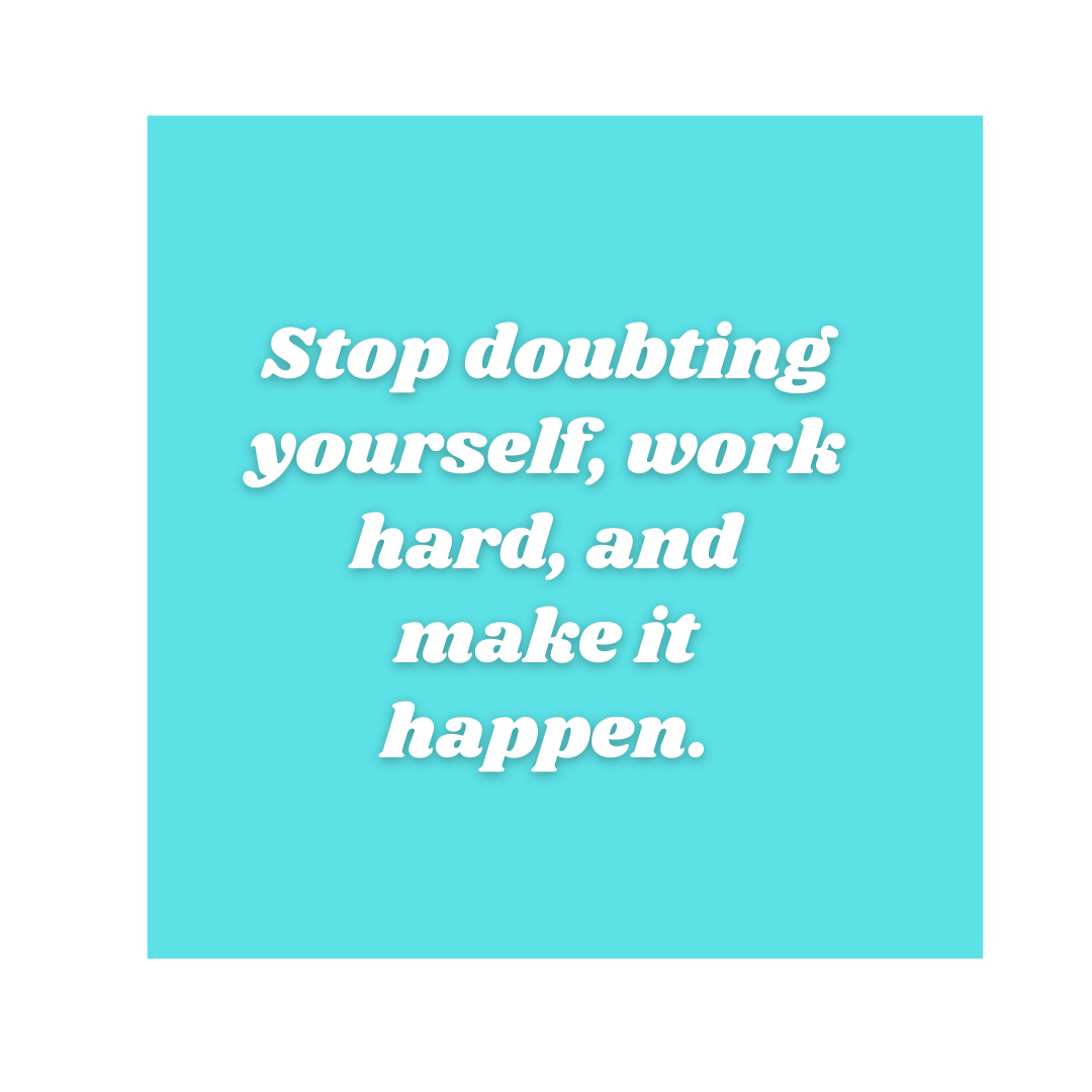 Stop doubting your self, work hard and make it happen! #MakeItHappenpic.twitter.com/nQnvDwIKQG