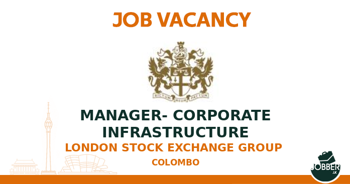 Job vacancy MANAGER- CORPORATE INFRASTRUCTURE from London Stock Exchange Group . To Apply : https://jobber.lk/vacancy/manager-corporate-infrastructure-job-from-london-stock-exchange-group-in-colombo-sri-lanka… . #jobsInSriLanka #sriLanka #sriLankanpic.twitter.com/jOtkiK751M
