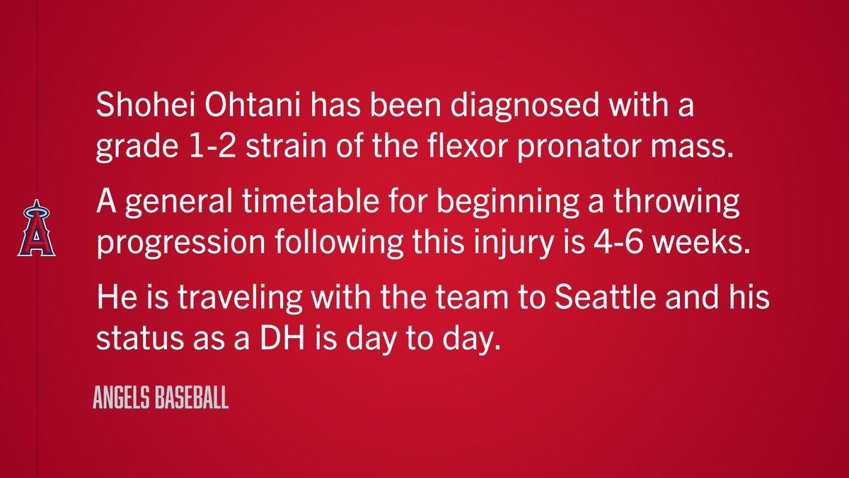 Update on Shohei Ohtani: https://t.co/hZ8RJJzEdN