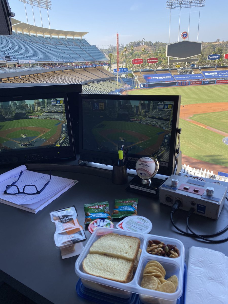 6:10 game on @SportsNetLA and back by popular demand my 6th grade lunch made by @danahershiser with love! Ps...I'm on Cameo if you need a cool shout out!
