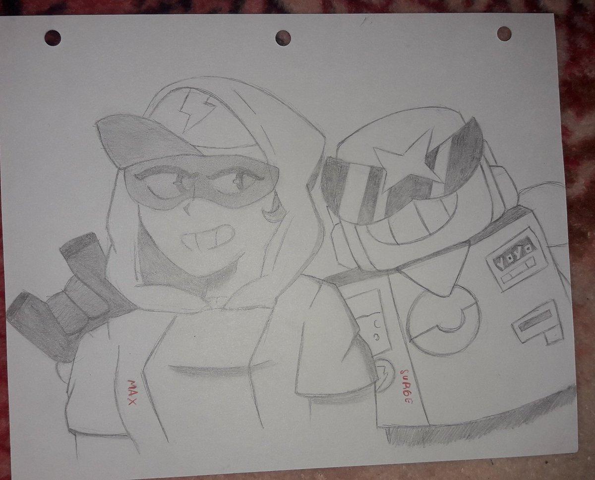 Un dibujo de Max y Surge  #brawlstar  #brawlstarsfanartpic.twitter.com/Avmq2WekJK
