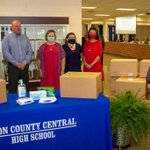 This morning, Commissioner @SchwinnTeach and I visited with teachers at Obion County Central High School to deliver PPE kits. These kits will be delivered to every teacher in Tennessee so they won't have to pay for these supplies out of their own pockets.