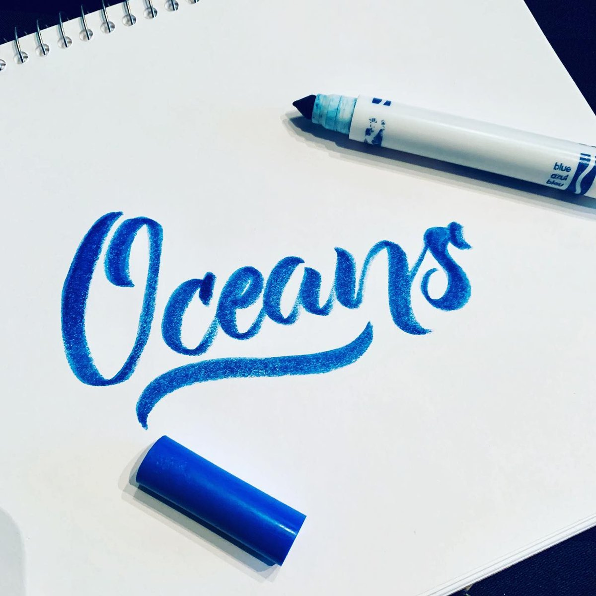 Day 28: Oceans, another gem by @hillsongunited. Love this song. @taya_gaukrodger lead this song, she's a epic singer. - #crayligraphy #20minutesofcray #growthmindset #oceans #hillsongunited #lettering #calligraphy #calligraphylettering #calligraphyart #calligrapherpic.twitter.com/gnB6vatagl