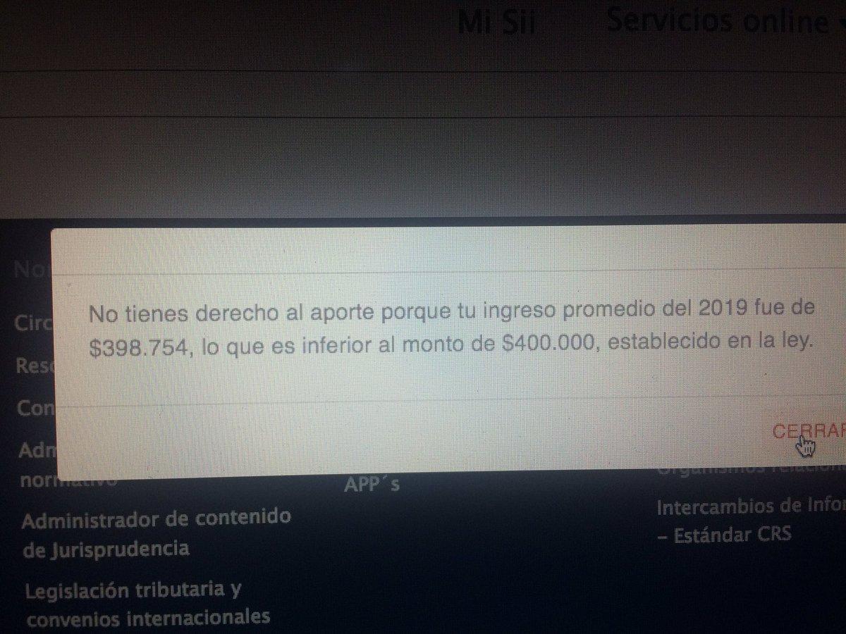 Esto es broma !! Por $1246 no tengo bono !! 🤦🏻♂️🤦🏻♂️🤦🏻♂️ @SII_Chile @GobiernodeChile https://t.co/c7Rrw6za73