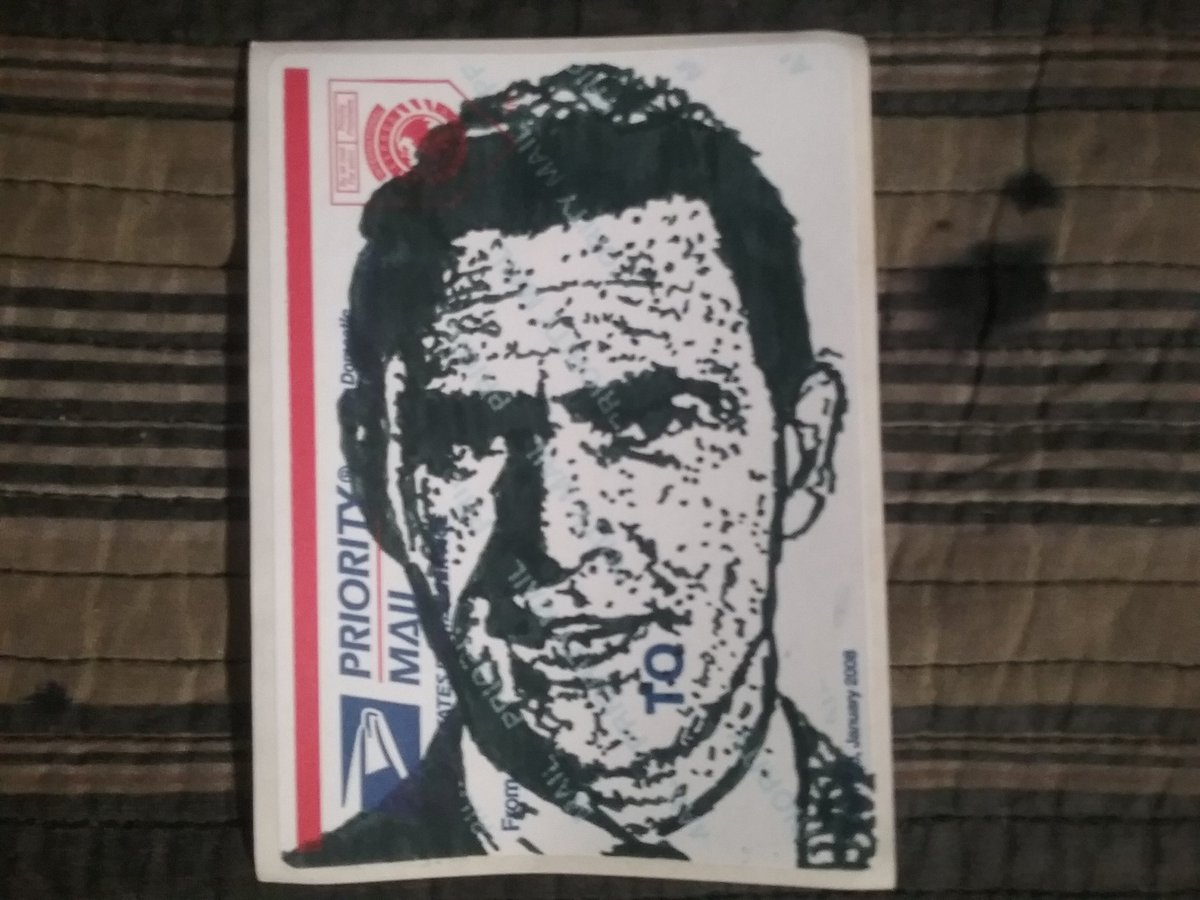 WORK IN PROGRESS! . Not really movie related, but definitely pertains to #SciFi / #Horror. Wrapping up a #Portrait of #TheTwilightZone narrator #RodSerling! Off to the scanner ... . #WorkInProgress #WIP #MovieArt #SciFiArt #HorrorArt #StickerArt #PopArt #ArtProcesspic.twitter.com/J0io3t6FPa
